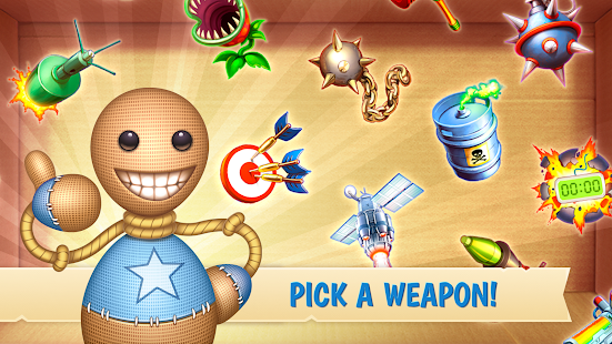 kick the buddy mod apk unlocked all weapons